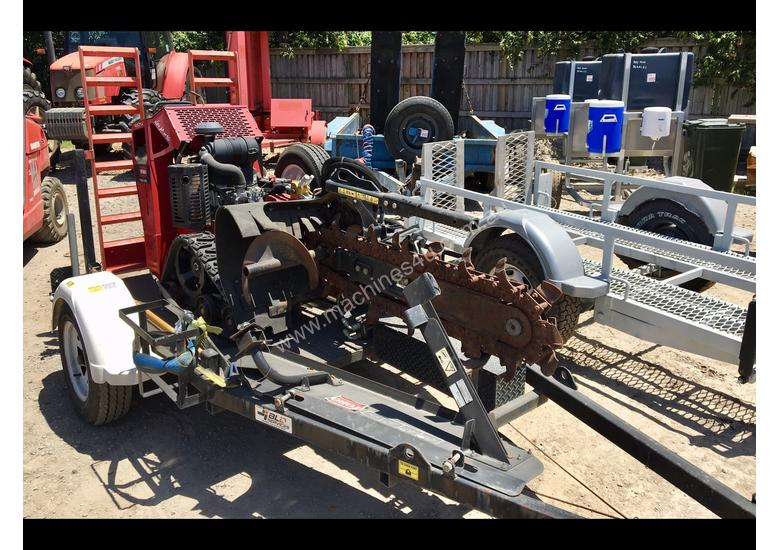 Trencher and Trailer Combo