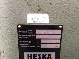 Heska Vertical Metal Bandsaw Great Condition  - picture5' - Click to enlarge