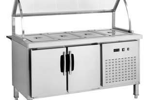 BS6C Chilled Six Pan Bain Marie Fridge