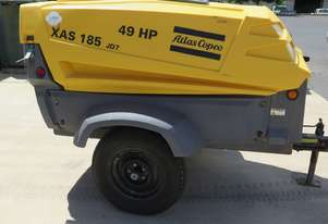 2011 Atlas Copco XAS185 JD - John Deer Diesel Engine - Air Compressor