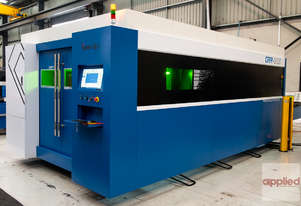 New Yawei CKY1530D CNC fiber laser with 2kW IPG, Autofocus head, pallet exchange, Sick guards & more