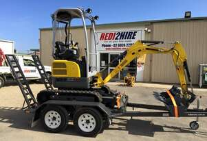 Wacker Neuson EZ17 Mini Excavator Trailer Package