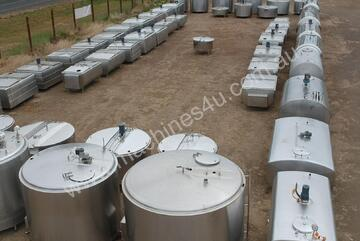 STAINLESS STEEL TANKS, MILK VATS, WINE, BREWING