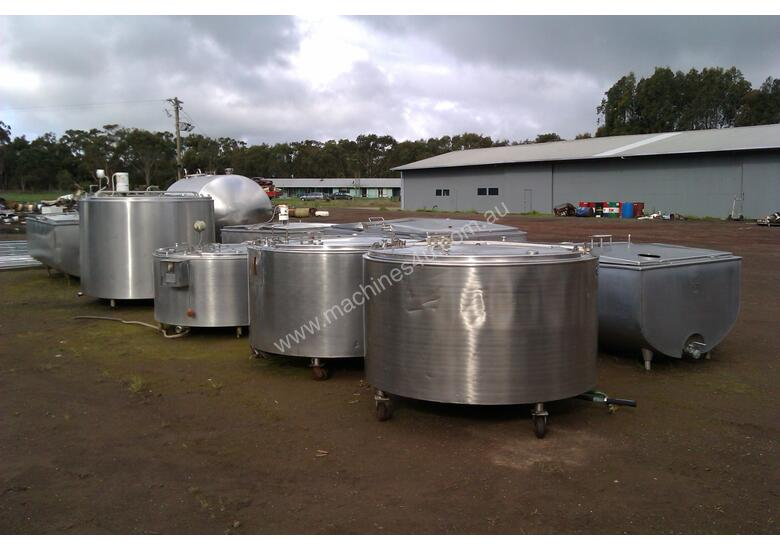 Used Mixing Tank Stainless Steel Tanks In Timboon West Vic