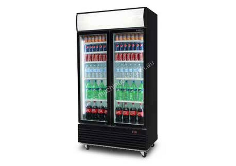 Bromic GM1000LB LED - Flat Glass Door LED Display Chiller With Lightbox - 1000L
