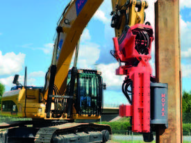 MOVAX SG-45V EXCAVATOR MOUNT PILE DRIVER (20-24T) - picture3' - Click to enlarge