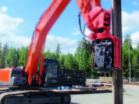 MOVAX SG-45V EXCAVATOR MOUNT PILE DRIVER (20-24T) - picture8' - Click to enlarge