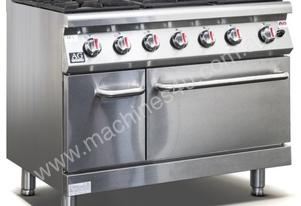 6 Burner Gas Stove/Cook Top with Oven (LPG)