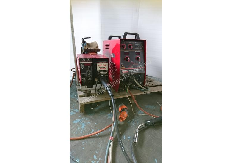 used lincoln lincoln invertec stt 2 mig welder 225 amp. Black Bedroom Furniture Sets. Home Design Ideas