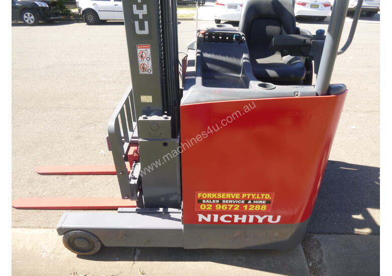 Nichiyu Electric Reach Forklift - New Paint, 8.0 Metre Lift, Serviced, Battery with Warranty