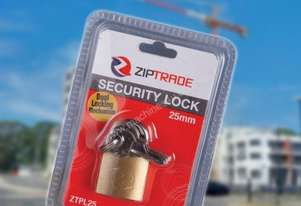 25MM ZIPTRADE SECURITY PADLOCK
