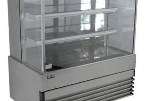 Koldtech KT.SQRCD.12.4T Square Glass Refrigerated Cake Display 4 Fixed Shelves - 1200mm