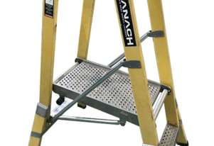 Branach Platform Ladder FPL 0.6 Meter Fiberglass Industrial Stock Picking