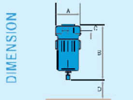 Compressed Air Filter CE018C: 38cfm 0.003 micron filter - picture1' - Click to enlarge