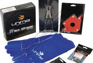 MSP24 SB24 Mig Welder Starter Pack Consumables Suit SB24 Mig Torch Includes Magnetic Square, Gloves,