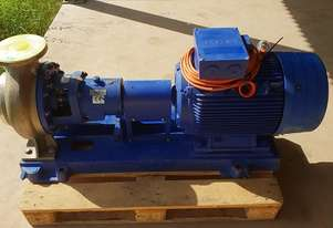 2010 Siemens 37 KW Electric Motor Centrifugal KSB Alloy Stainless Water Pump 188 m/3h Head 40m