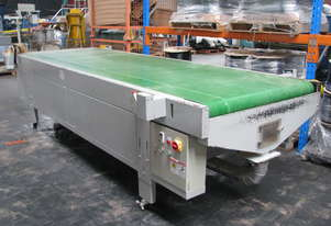 Large CNC Motorised Belt Conveyor Sheet Material Feed and Takeoff - 4m long