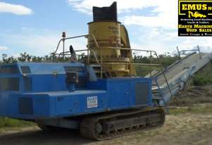 2004 SCS Steel Tracked Cone Crusher.  E.M.U.S. MS473