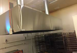 Pizza Oven Hood with Extraction Funnel and Fans-New
