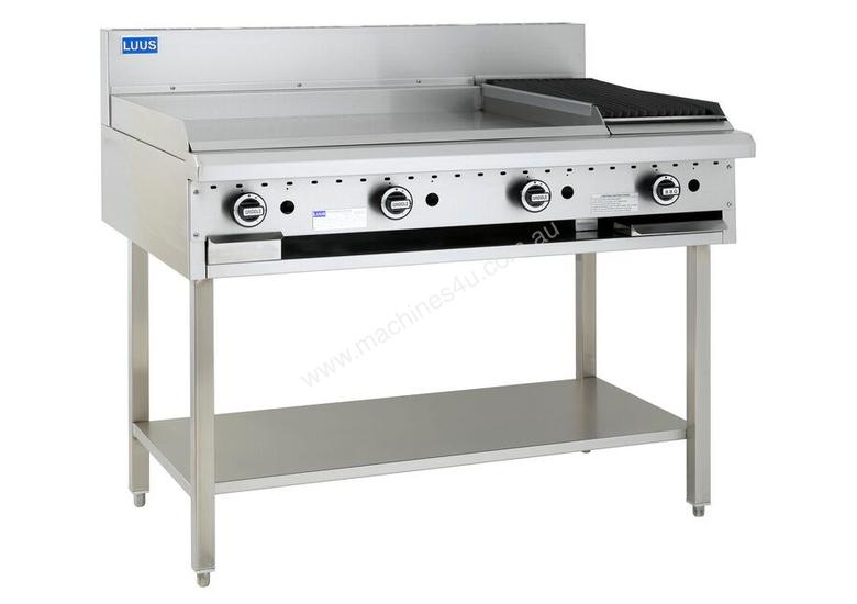 900mm Griddle 300mm Chargrill Combination with legs & shelf