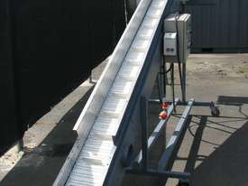 Large Incline Motorised Belt Conveyor - 3.8m long - picture1' - Click to enlarge