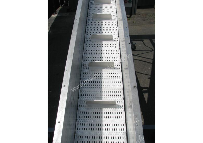 Large Incline Motorised Belt Conveyor - 3.8m long