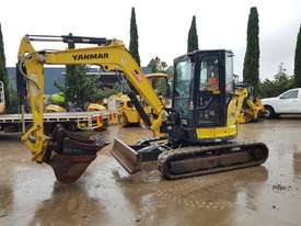 2017 YANMAR VIO45-6 EXCAVATOR WITH LOW 1200 HOURS, CABIN, HITCH AND BUCKETS - picture0' - Click to enlarge