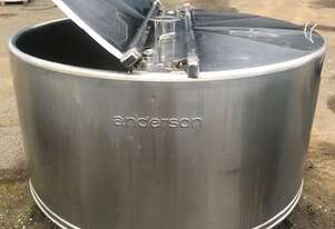 1,815ltr stainless steel dimple jacketed tank