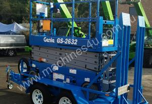 Genie GS2632 Electric Scissor Lift and Trailer