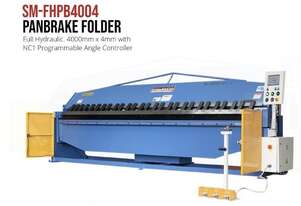 Heavy Duty Industrial 4000mm x 4mm NC Programmable Panbrake Folder