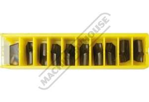 A2030N00CR02 KENNAMETAL Carbide Inserts - Parting 3 x 11mm Grade KC5025 General Purpose 10 Inserts P