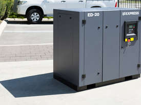 15 kW (20HP) Screw Compressor - Base Mounted  - picture0' - Click to enlarge