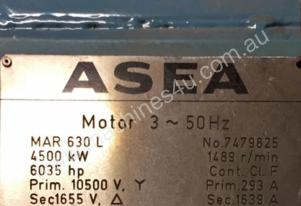 4500kw 1489 rpm 10500v Asea AC electric motor