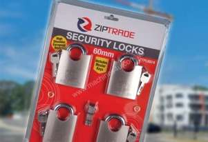 60MM ZIPTRADE SECURITY PADLOCK SET