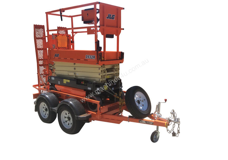 JLG 1932R Scissor Lift & Trailer