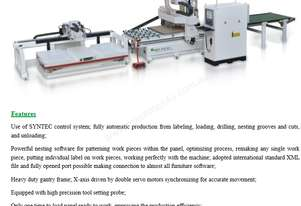 NANXING Pre labeling Drilling Nesting Grooves Cutting & Unload CNC Machine NCG3716L 3700*1600mm
