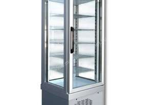 Tekna 4400NFN Single Door Upright Display Freezer - 4 Sided Glass