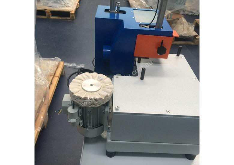 Corner rounder with polishing unit and mobile stand