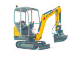 New ET16 rubber tracked excavator - picture4' - Click to enlarge