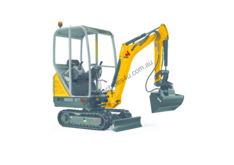 New ET16 rubber tracked excavator