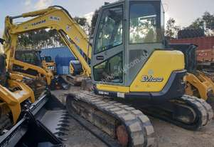 USED YANMAR SV100 EXCAVATOR WITH 4150 HOURS, FULL CAB, HITCH AND BUCKETS