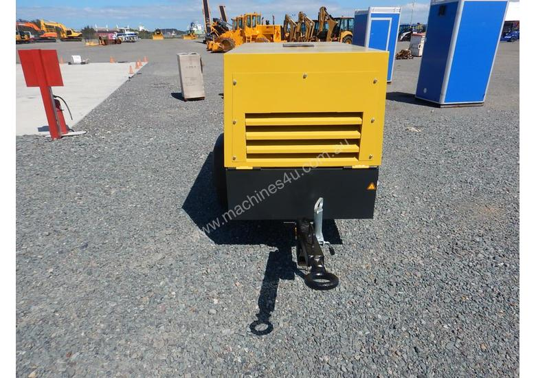 Unused 2018 Atlas Copco LUY050-7 180 CFM Single Axle Compressor