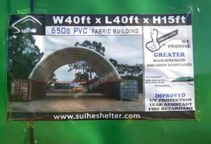 C4040 12.0m x 12.0m x 4.5m Single Trussed Container Shelter-6452-3