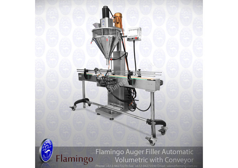 Flamingo Auger Filler Automatic Volumetric with Conveyor and Solid Hopper (EFAFA-5000V)