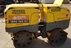 2012 Double Drum Trench Roller Wacker Neuson RT82-SC-2 in Good Condition