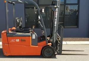 Heli 1800kg Battery Electric Forklift with 4350mm Three Stage Mast