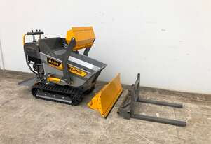 New Mini Dumper - Includes Self Loading Bucket, Front Blade and Fork Lift attachments
