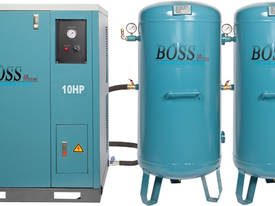 BOSS 48CFM/ 10HP SILENT COMPRESSOR (2 X 220L TANK) - picture0' - Click to enlarge