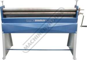 2.5X50 Manual Sheet Metal Curving Rolls 1270 x 1.6mm Mild Steel Capacity Includes Wiring Grooves & S