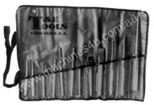 T & E TOOLS Punch and Chisel Set 12 Piece